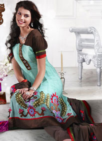 Delightful Embroidered Suit With Stylish Dupatta