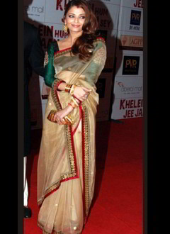 Aishwarya Rai Embroidered Saree