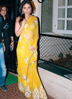 Kareena Kapoor Yellow Saree