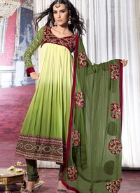 Green salwar kameez