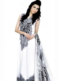 White black salwar kameez