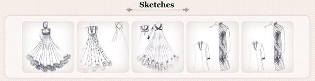 Ethnic Fashion Sketches