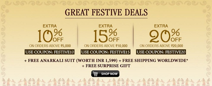 Best Festive Offers on Ethnic Wear