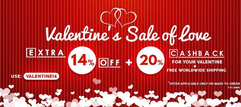 valentine sale of love