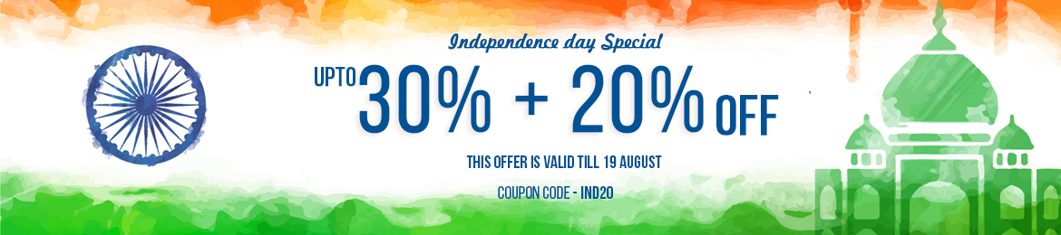Independence Day Sale - upto 30% off + extra 20% OFF Sale