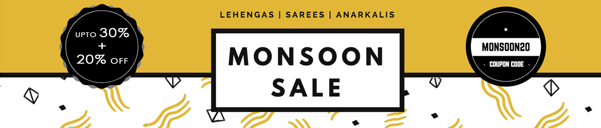 Monsoon Offer - 30%+20% off