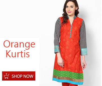 Orange Kurtis