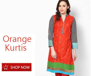 Orange Kurtis