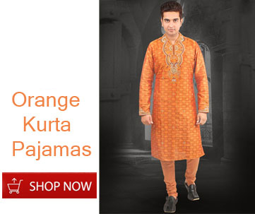 Orange Kurta Pazamas