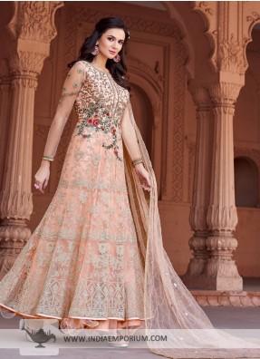 NEW 2015 DESIGNER ANARKALI SALWAR KAMEEZ DUPATTA INDIAN PAKISTANI  SUIT DRESS