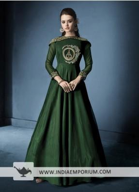 Dark Green Salwar Suits | Graceful Green Suit