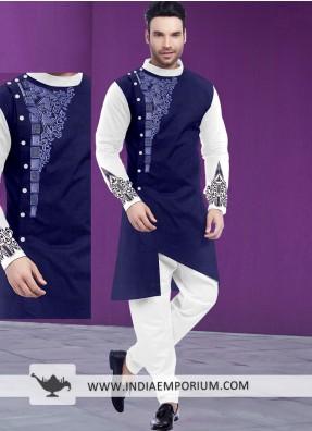 Designer Kurta Pajamas For Men Embroidered Kurta Pajamas
