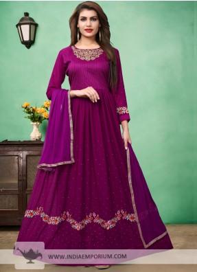 Dark Purple Salwar Suit | Charming Purple Color Salwar Kameez