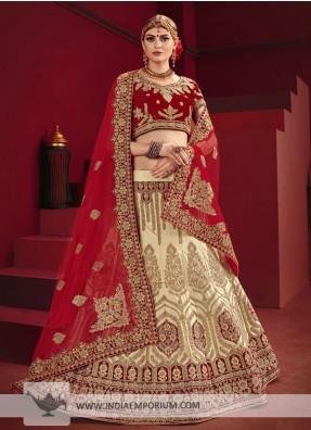 Heavy Bridal Red lehenga Choli Indian Bollywood Wedding Lehnga Leghna Ethnic New